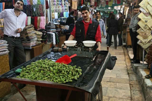 Fresh almonds in the souk