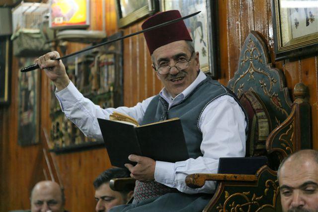 Story teller in Damascus
