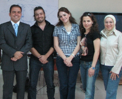Prof. Sami Moubayed with a few of his students